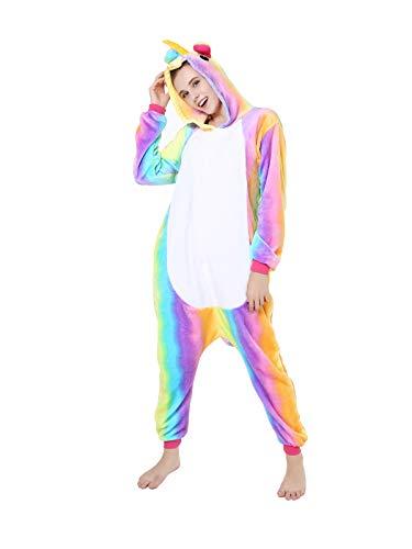 GARYOB Einhorn Flanell Pyjamas Schlafanzug Cosplay Kostüm Karneval Xmas Party Jumpsuit Für Kinder Erwachsene