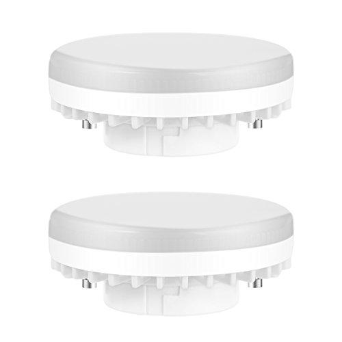 Luohaoshi GX53 LED Lampe, 7W Ersetzt 60W, Warmweiß (3000 Kelvin) Reflektor LED Bulb, 600LM, 120°Abstrahlwinkel Deckenleuchte, 2er Pack LED Leuchtmittel