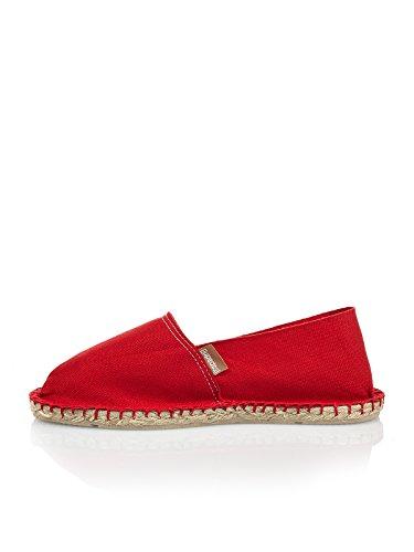 Espadrij l' originale Classic 100Espadrille scarpe basse unisex, per adulti, Donna, rosso, 44 UE