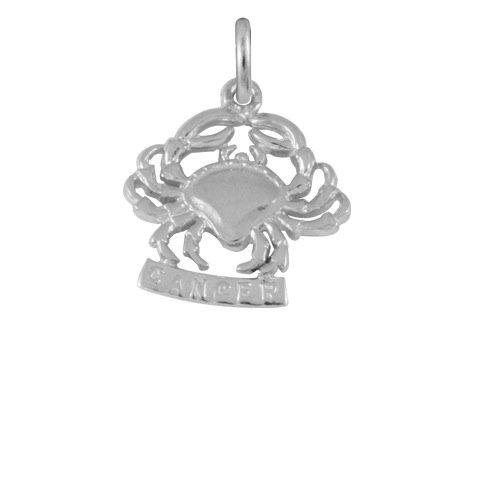 Ciondolo TheCharmWorks in argento Sterling a forma di segno zodiacale del Cancro