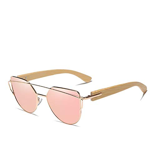 ZHOUYF Gafas de Sol de madera de bambú hechas a mano