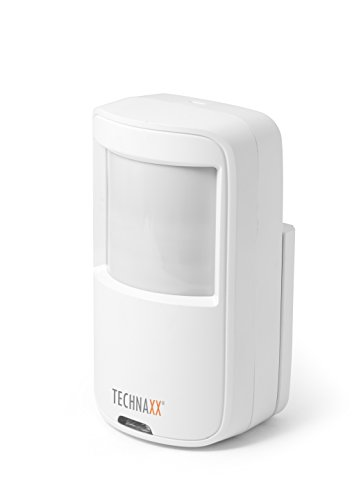 Technaxx PIR Bewegungssensor TX-85 (zum Kit TX-84), Alarmauslösung bei Bewegungserkennung mit Erfassungsbereich, 12m weiß Pir-kit