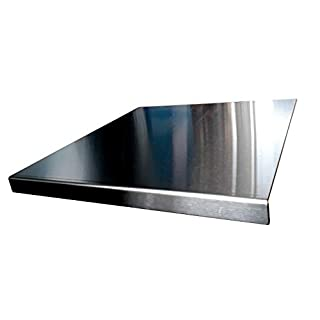 Stainless Steel Worktop Saver Chopping Square Edge See all Variation sizes (Includes non slip rubber feet) (300 x 400 square fold)