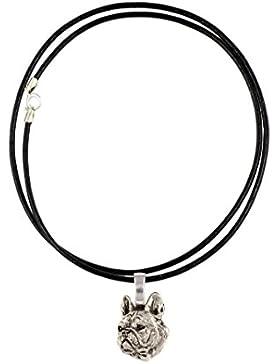 Französische Bulldogge, Hundehalskette, limitierte Auflage, außergewöhnliches Geschenk, ArtDog