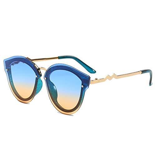 Wenkang Mode Glitter Cat Eye Sonnenbrille Uv400 Sonnenbrille Frauen Vintage Gradient Shade Brille Weibliche Brillen Oculos,5