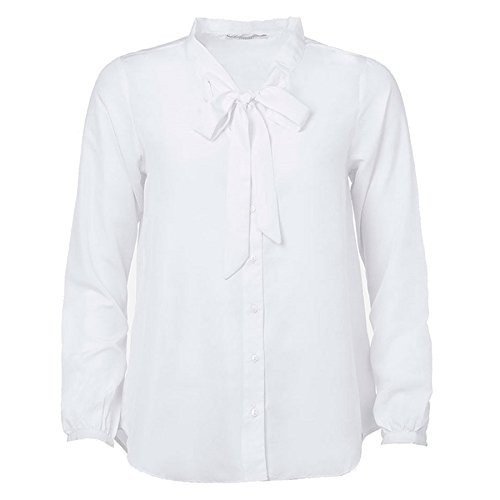 Tiffosi Damen Bluse Weiß