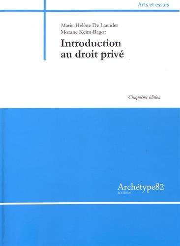 Introduction au droit privé