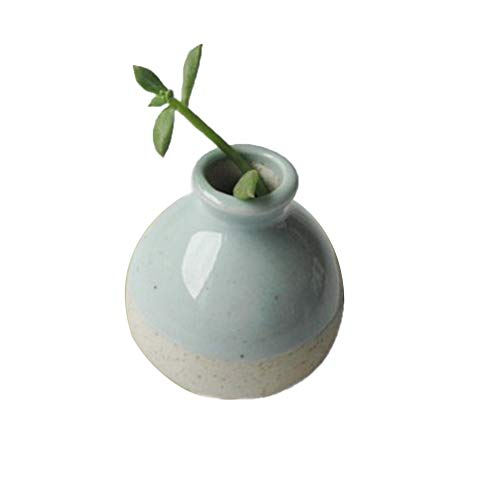 Vase Keramik, Weiß,