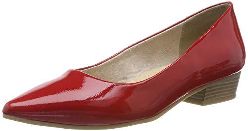 Marco Tozzi 2-2-22206-22, Bailarinas para Mujer, Rojo Red Patent 524, 36 EU