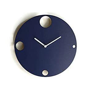 19cm Kleine hölzerne ruhige wanduhr ohne tickgeräusche in vielen farben wie saphirblau Keine tickenden wanduhren Modernes design winzige leise uhr für wohnzimmer Moderne uhren kein ticken