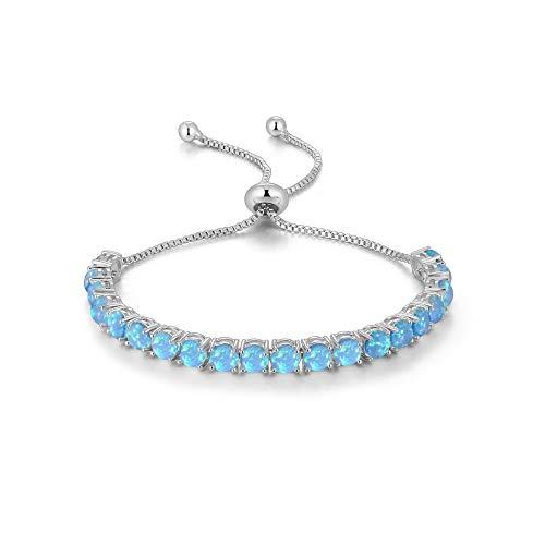 MATBC Blau weiß rosa Opal gleitarmbänder mit Stein Silber Rose gelbgold Farbe halb armreif schmuck Frau