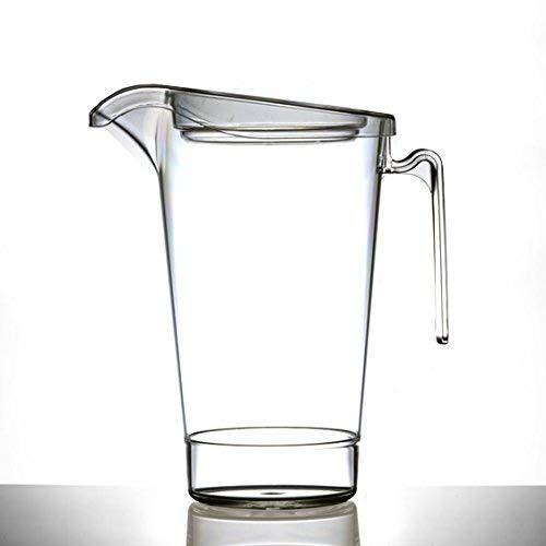 Carafe en plastique 4 verres avec couvercle, empilage | Pimms Carafe | pratiquement incassable – Produits de qualité - fabriqué au Royaume-Uni par BBP