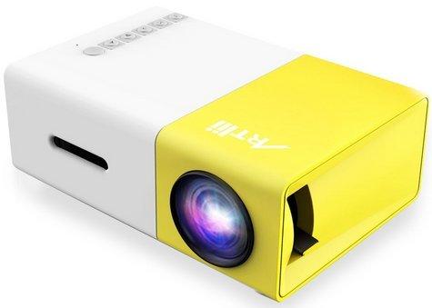 Artlii Fun Mini vídeo proyector casero portable de 1080P con la entra