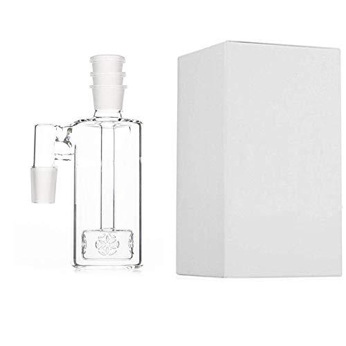 JINNUO Glass Ash Catcher Höhe: 5,1 14,5 mm Gelenk mit 90 Grad Glas Ashcatcher für Glasbong (14.5MM) - Ash Catcher