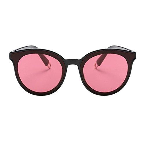 Sonnenbrille Top (URSING Sonnenbrille für Damen/ Mode Polarisierte Katzenaugen Sonnenbrille/Cat Eye Accessoire für Frauen/ Oversized Flat Top Reflektierende Spiegel Brille/ Klassische Vintage Retro Coole Look (C))