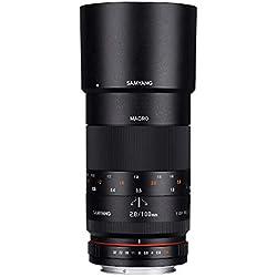 Samyang Objectif pour Canon 100 mm F2.8 Macro ED UMC Noir
