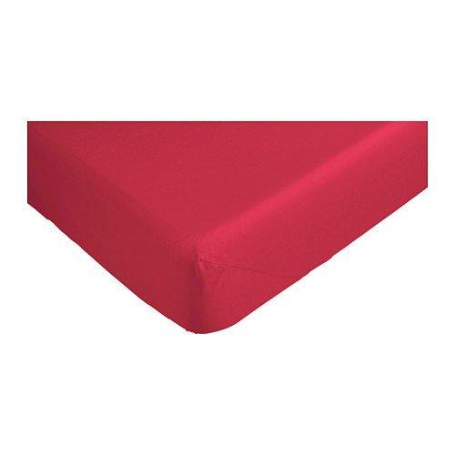 Ikea Lenzuola Con Angoli.Ikea Dvala Lenzuolo Con Angoli In Rosso 140 X 200 Cm Rot 140 X