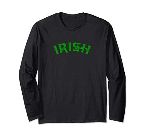 Irische Erin Go Bragh Shamrock  Langarmshirt -