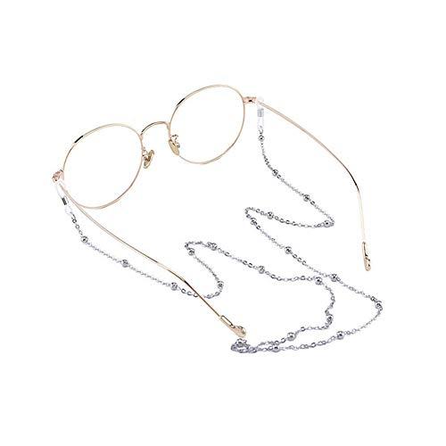 Hacoly Sonnenbrille Lanyard Gläser Kordel Lanyard Gläser Kette Eyewear Retainer Für Frauen Gläser Kordeln Gläser Lanyards Eyewear Retainer Outdoor-Sportbrillenhalter(Silber)