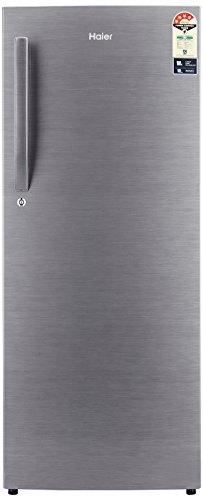 Haier 220 L 4 Star Direct-Cool Single Door Refrigerator (2204BS-R, Brushline Silver and Silver Vivid)