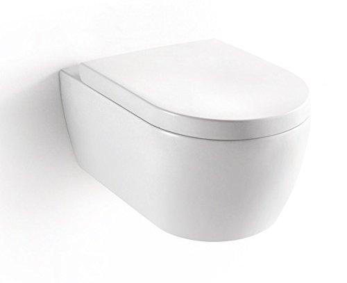 BERNSTEIN Design Wand-Hänge WC Toilette Nano inkl. Softclose Deckel NT2019