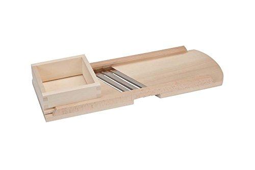 Krauthobel / Krautschneider / Sauerkrauthobel /Kohlhobel / Kohlreibe / Gemüsehobel - aus heimischem Lindenholz - Tiroler Art, 3 Messer, Sehr scharf! Mit herausnehmbaren Hobelschlitten, 56 x 19 cm