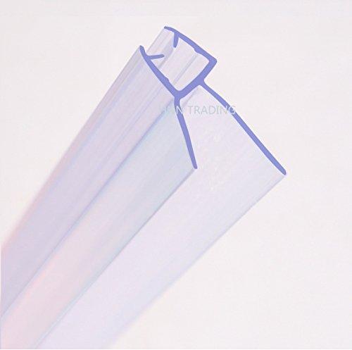 hnnhome Esstischstühle Bad Dusche Bildschirm Türdichtung für 4–6mm gerade/gebogene Glas bis zu 20mm Gap