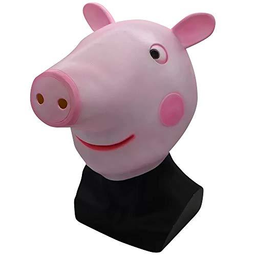 thematys Peppa Wutz Maske - perfekt für Fasching, Karneval & Halloween - Kostüm für Erwachsene - Latex, Unisex Einheitsgröße (Peppa The Pig Kostüm)
