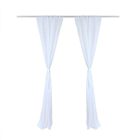 sourcingmap® High Thread Rod Pocket Sheer Curtains Voile Window Panel