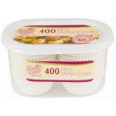 Lot de 800mini moules à muffins vendus en 2paquets de 400