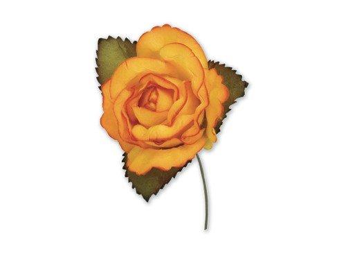 paper-roses-orange-45-cm-12-pieces-craft-product-unique