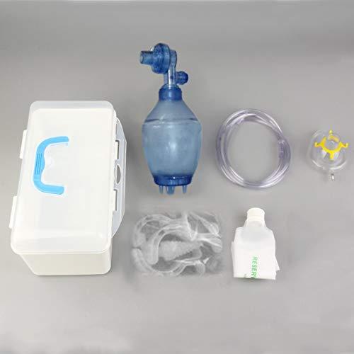 Uniqueheart Manueller Wiederbelebungs-PVC-Kind Ambu Bag + Sauerstoffschlauch-Erste-Hilfe-Ausrüstung Sauerstoffschlauch und Reservoir-Beutel PVC-Beutel und Transparente Maske