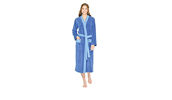 9ce4b8be68188e WEWO Fashion Damen Bademantel / Kimono ohne Kapuze # 4050 ( XXL , Blau ):  Amazon.de: Bekleidung