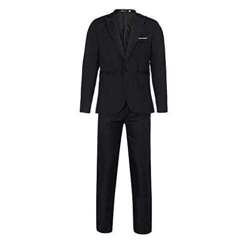 Mambain Abiti Uomo Completo Blazer Uomo Due Pezzi Set Giacche con Un Bottoni e Pantaloni Slim Fit Abiti Uomo Elegante Classico per Festa Cerimonia
