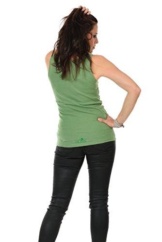Girocollo Allentato Casuale Canotte Senza Maniche Serbatoio Migliori Camicie stampa magia foglia - Donna, da 3Elfen Verde