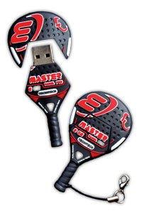 Tech1Tech TEC5046-08 - Memoria USB de 8 GB, Figura Raqueta de pádel