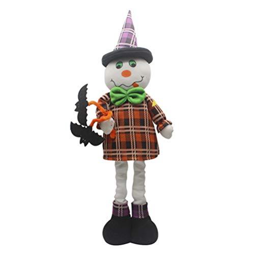 BlackStree Halloween Große Teleskop Puppe Kürbis Hexe Puppe Ghost Ghost Festival Party Dekoration Requisiten 50CM Weiße Geist - Monster High Ghost Kostüm