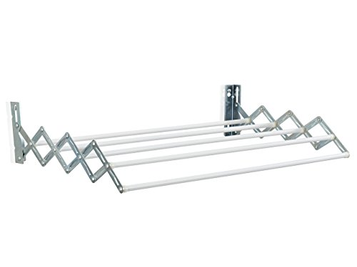 Leifheit Classic 28 Extendable - Tendedero de Pared de Metal, Color Blanco