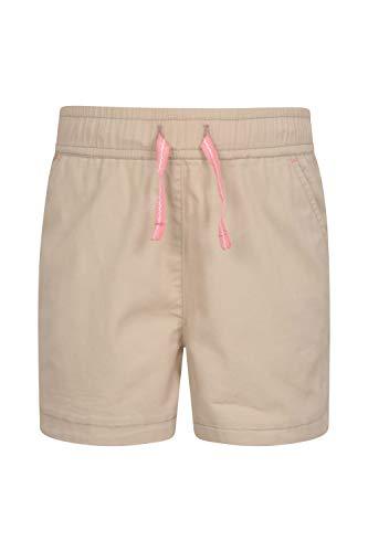 Mountain Warehouse Waterfall Shorts für Mädchen - Baumwollshorts, Kinder Kurze Hose, atmungsaktive Urlaubsshorts, Pflegeleichte Hose - Lässige Kleidung für die Reise Beige 152 (11-12 Jahre) (Ein Mädchen Elf)
