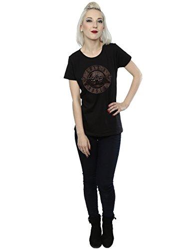 Guns N Roses Femme Sepia Bullet Logo T-Shirt Noir