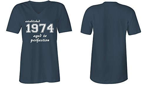 ... Established 1974 aged to perfection ☆ V-Neck T-Shirt Frauen-Damen ☆