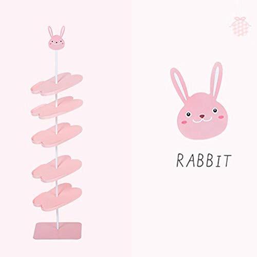 Feiledi trade - scarpiera a forma di animale, semplice e autoportante, per adulti e bambini, 1, rabbit adult