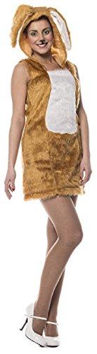 (L3201000-38 Damen Hasen-Kleid Plüsch-Kostüm Gr.38)