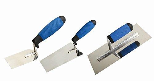 TrendLine Kellen-Set 3 St. Glättekelle Maurerkelle Putzkelle mit Kunststoffgriff
