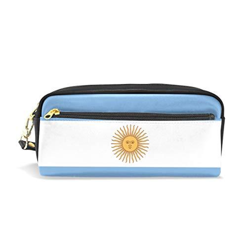 jstel Argentinien Flagge Muster Schule Bleistift Tasche für Kid Jungen Kinder Teens Stifthalter Kosmetik Make-up-Tasche Frauen Haltbare Stationery Pouch Bag großes Fassungsvermögen