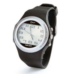 Orium 11545 Sprechende Armbanduhr, doppeltes Zifferblatt