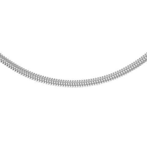 Tuscany Silver Sterling Silver 4mm Round Snake Chain of Length 61.0cm