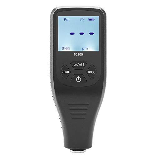 Schichtdickenmessgerät,Coating Thickness Gauge TC200 LCD Display Paint Coating Thickness Gauge Tester Digital Schichtdickenmessgerät Messwerkzeug für Auto,0~1300um / 0~51,2 mil,viel Zubehör (Thickness Paint Tester)