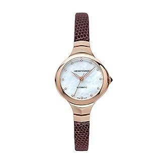 Emporio Armani Reloj Analógico para Mujer de Automático con Correa en Cuero ARS8250