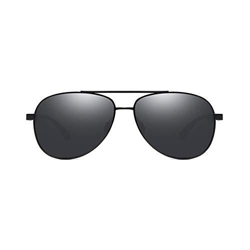 YSAGNZQ Polarisierte Brille-100% UV-Schutz Anti Glare Brille Männer Frauen Outdoor-Sport Angeln Ski Fahren Golf Laufen Radfahren Brille,Black